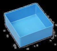 Pojemnik magazynowy, warsztatowy 108x108x45 mm. Niebieski