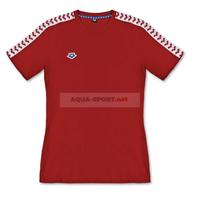 ARENA KOSZULKA WOMEN T-SHIRT TEAM ICONS RED-WHITE-RED ROZM.M TRENING