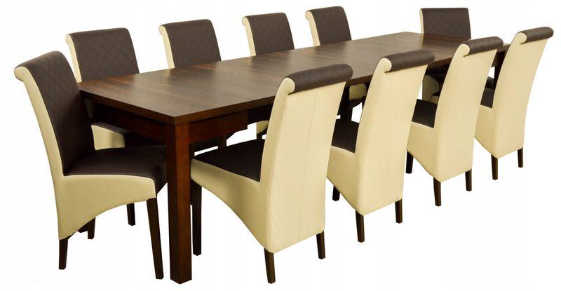 Duży Zestaw Z 10 Krzesłami I Stół 90x90290 Cm Arenapl