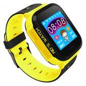 Zegarek smartwatch dla dzieci z lokalizatorem GPS KIDS SOS - żółty zdjęcie 1
