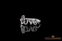 SREBRNY PIERŚCIONEK GWIAZD LOVE PG-003 ROZMIAR - 19