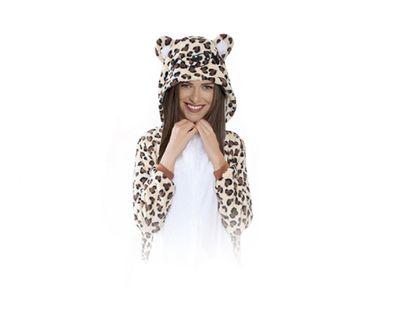 Leopard Kigurumi Onesie dres piżama kombinezon S