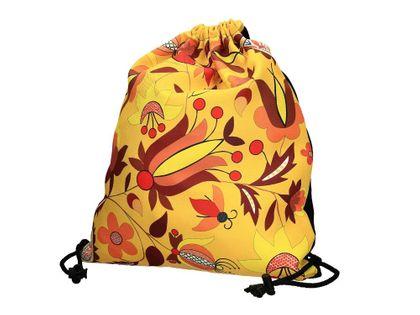 Worek sportowy/plecak - wzory kaszubskie - borowiacki żółty