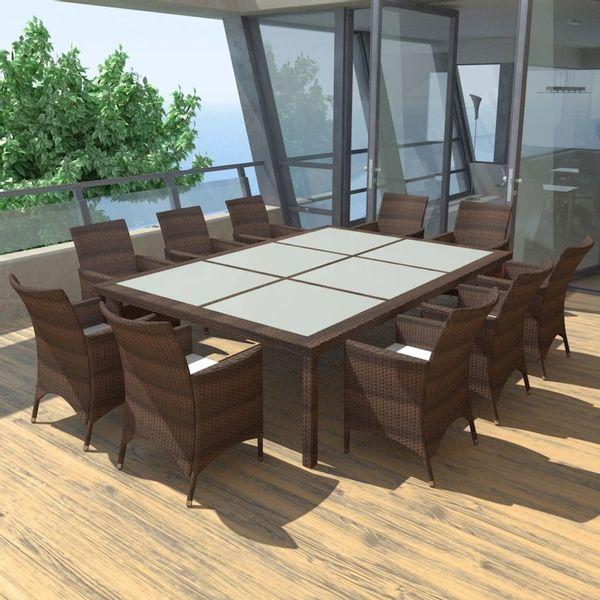 Meble Do Ogrodu Drewniane Stół Krzesła Pouszki Zestaw Arenapl