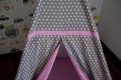 Namiot Tipi Softfun pink night mata + 3 poduszki bawełna MINKY zdjęcie 7