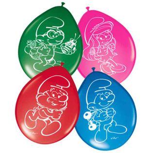 """Balony """"Smerfy"""", pastel mix, FOLAT, 12"""", 8 szt"""
