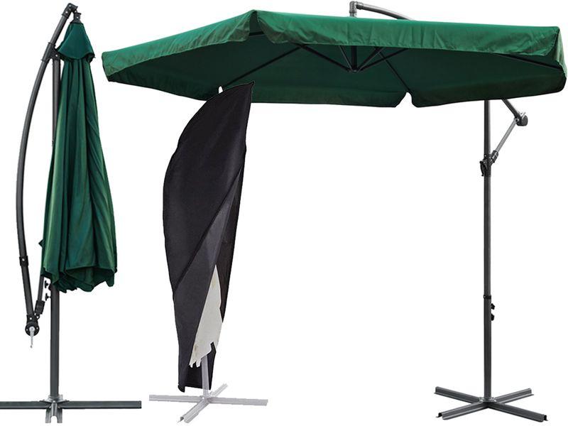 Parasol ogrodowy składany z FALBANKAMI 350cm DUŻY 3,5M + POKROWIEC zdjęcie 1