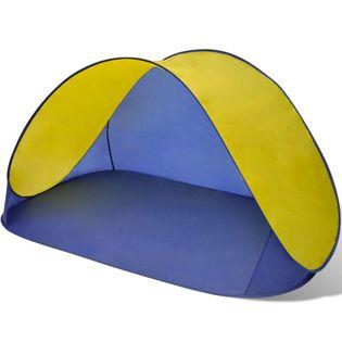Składany namiot plażowy wodoodporny żółty VidaXL