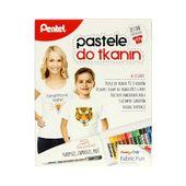 Pastele do tkanin 15 kol. + długopis żelowy + koszulka Pentel ZOBACZ!