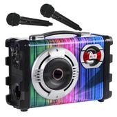 KARAOKE 2x mikrofony 25W Czytnik Pendrive USB Bluetooth