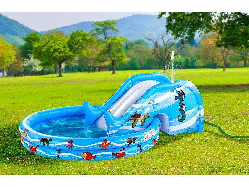 Dmuchany brodzik / basen dla dzieci ze zjeżdżalnią Infactory zdjęcie 2