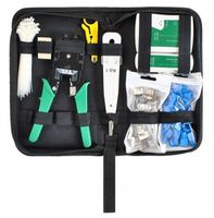 Zestaw narzędzi Tester Kabli RJ45 RJ11 Zaciskarka Wtyk Etui D145