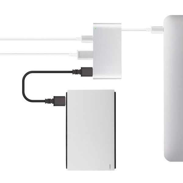 Moshi USB-C Multiport Adapter - Aluminiowy hub 3-w-1 USB-C/Thunderbolt 3 (Silver) zdjęcie 6