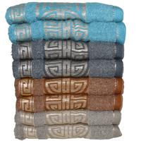 Komplet ręczników kąpielowych 50x100 cm 8 szt.  (wzór: grecki; kolor: mix)