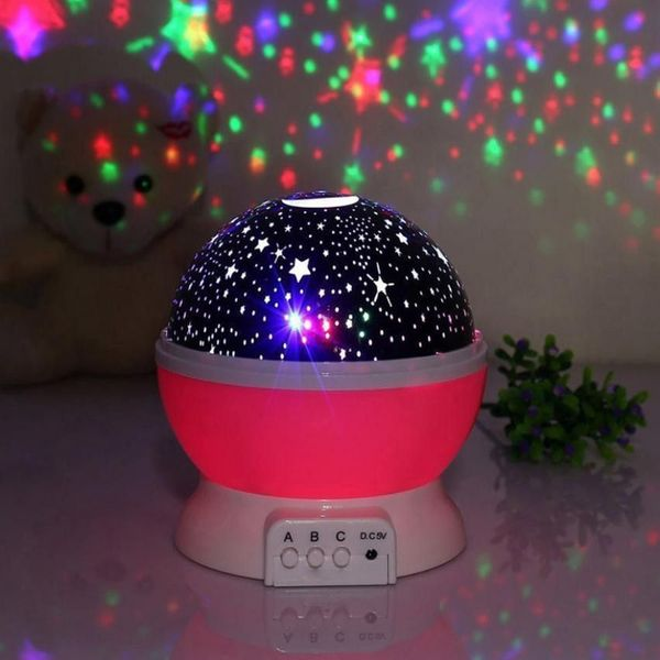 Lampka nocna dziecięca projektor gwiazd nieba obrotowa Y67 zdjęcie 4