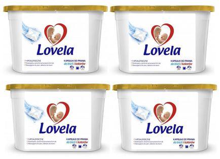 Kapsułki do prania Lovela Hipoalergiczne uniwersalne 12 sztuk x 4 opak