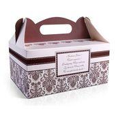 Ozdobne pudełko na CIASTO weselne brązowe 10 szt