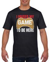 Koszulka męska I paused my game to be here XXL Czarny