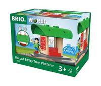 BRIO World Peron Kolejowy z Nagrywarką