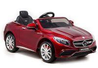 Import LEANToys Auto na Akumulator Mercedes S63 Czerwony Lakier
