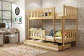 Łóżko piętrowe dla dzieci Kubuś 190x80 dziecięce + MATERAC + SZUFLADA zdjęcie 6