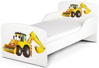 Łóżeczko dziecięce Pan Koparka 140x70 z materacem