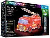 Laser Pegs Świecące Klocki 12W1 Fire Truck Wóz Strażacki 173El. 12012