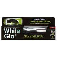 White Glo Charcoal Total Mouth Detox Pasta Do Zębów Z Aktywnym Węglem 100Ml + Szczoteczka