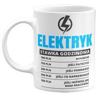 Kubek Elektryk stawka godzinowa, Prezent dla Elektryka, 330ml