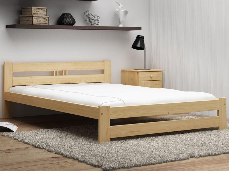 łóżko Esm2 140x200 Drewniane Stelaż Sprężynujący