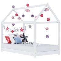 Rama łóżka dziecięcego biała lite drewno sosnowe 80x160cm VidaXL