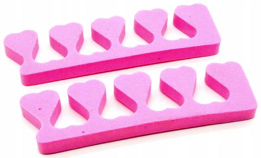 Separatory do pedicure różowe 2 sztuki