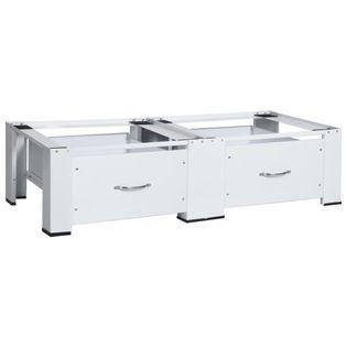 Lumarko Podwójny podest z szufladami pod pralkę i suszarkę, biały