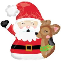 Balon foliowy GWIAZDOR MIKOŁAJ świąteczny RENIFER