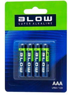 Baterie alkaliczne Blow Super Alkaline AAA LR3 (4 sztuki)