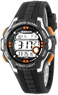 Xonix Wielofunkcyjny zegarek sportowy, 8 x alarm, stoper, podświetlenie, WR 100M, antyalergiczny