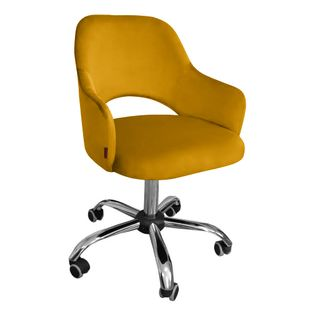 Fotel obrotowy MARCY / miodowy / noga chrom / MG15