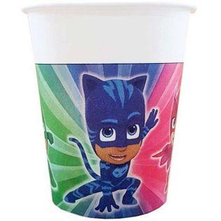 """Kubeczki papierowe """"PJ Masks"""", PROCOS, 200 ml, 8 szt"""