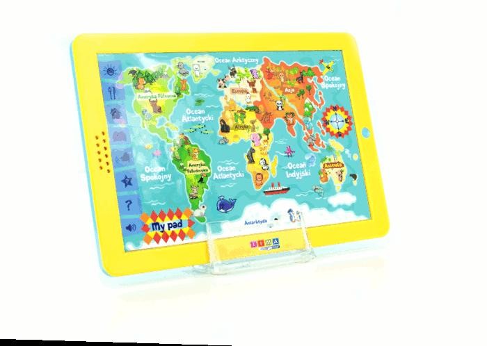 Mapa świata - edukacyjny tablet dla dzieci – język polski zdjęcie 3
