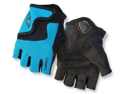 Rękawiczki juniorskie GIRO BRAVO JR krótki palec blue jewel roz. M (obwód dłoni 152-162 mm / dł. dłoni 160-165 mm) (NEW)