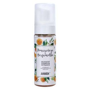 Anwen - Pianka szampon pomarańcza i bergamotka. Do normalnej i przetłuszczającej się skóry głowy - 170 ml