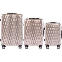 Zestaw 3 walizek KEMER WINGS PC190 Brązowe