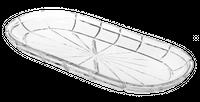 Taca 35X16 Cm Quartzo