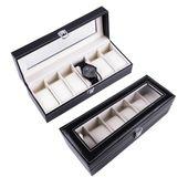 ORGANIZER ZEGARKI Etui Kuferek Pudełko 6 Zegarków