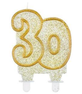 Świeczka Cyferka 30 na trzydzieste Urodziny