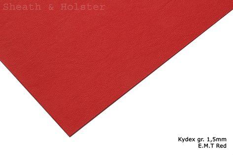 Kydex E.M.T. Red - 200x300mm gr. 1,5mm