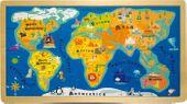 Puzzle dla dzieci - mapa świata
