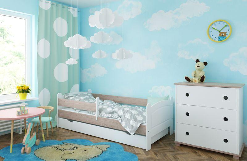 Łóżko AMELIA 180x80 szuflada + barierka zabezpieczająca + MATERAC zdjęcie 6