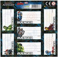 Avengers Naklejki Na Zeszyt 7szt wzór 5