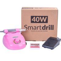 Frezarka do manicure DM208 moc 40W z 6 frezami - Różowa